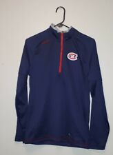 Reebok Center Ice Collection Montreal Canadiens Mens Small 1/2 Zip Pullover Navy