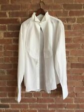 Giorgio Armani Collezioni -White  Tuxedo Shirt- SZ 17/43 Avant Garde