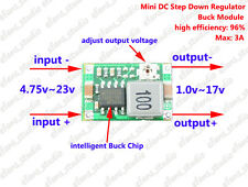 3A Mini DC-DC Buck Step Down Converter Volt Regulator 5V-23V to 3.3V 6V 9V 12V