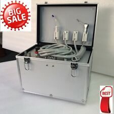 Dental Portable Mobile Unit W/ 3-Way Syringe+Air Compressor+Suction+HP Tube 2/4H