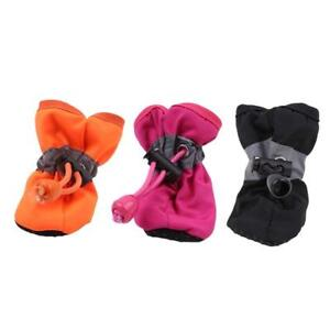 4Pcs/set Dog Pet Cute Rain Boots Waterproof Protective Anti-slip Boots Shoes FM
