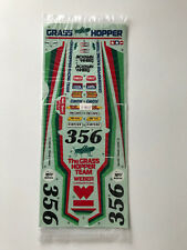 NOS Original Tamiya Grasshopper Kit 58043 Decals 1/10 RC NEW decalsheet 1986