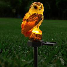 LED Garden Owl Solar Lights Patio Yard Lawn Waterproof Stake Lamp Party Decor