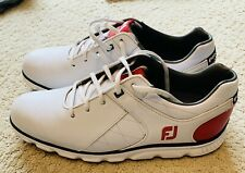 Footjoy Pro SL Spikeless Golf Shoes White/Red/Navy 10.5 M (Worn 1 Time)