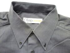 E7833 Olymp Luxor 256 64 63 Businesshemd Kombimanschette 43 dunkelgrau meliert