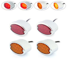LED Stop Taillight + Indicators for Hot Rod Truck Classic Car - Set of 4 CHROME