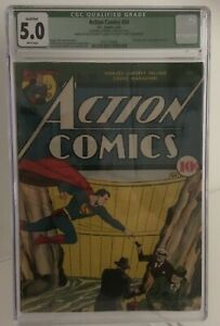 Action Comics #34, Superman, CGC Rated 5.0