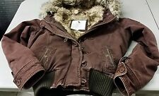 Abercrombie and Fitch Fur Lined Jacket w/ Hood- Womens Size Large