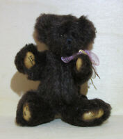 "WEE GEM Miniature 4"" Teddy Bear ""Chocolate"" Chu Ming Wu 1995 Vintage"