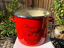 Le Creuset Large Red 16 Qt Lobster Stock Pot New