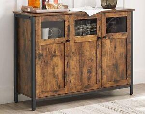 Large Wooden Sideboard Cabinet Industrial Storage Cupboard Buffet Slim Narrow