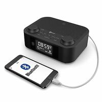 Majority Fulbourn DAB+ DAB Digital FM Radio Alarm Clock With USB Charging Black