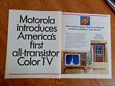 1967 Motorola TV Television Ad  Now Transistors Replace Tubes