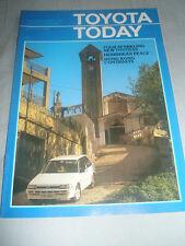 Toyota Today magazine brochure Spring 1985