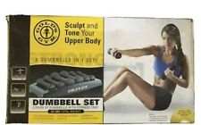 NEW Gold's Gym 6 Dumbells Weights Set, 32LBs Total, Fast Shipping Fitness