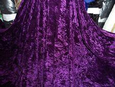 5 M di qualità Viola Scuro ICE Crush tessuto in velluto... larghezza 58 in (ca. 147.32 cm)