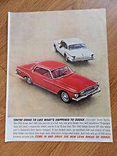 1962 Dodge Dart 440 & Lancer GT Ad