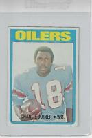 Charlie Joiner HOF 1972 Topps Rookie Football Card Well Centered NM-MT