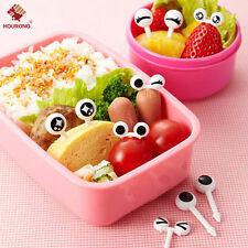 Mini Reusable 10pcs/set Cute Eye Fruit Fork Tableware Bento Lunch Cake Decor