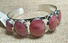 Jay King 5 Stone Pink RHODOCHROSITE Cuff Sterling Silver Bracelet Retail