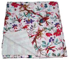 indisch Hand Block Print Kantha quilt With Floral Design bed cover throw Blanket