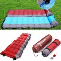 Ar inflatable Self-Inflating Camping Mat  Sleeping Pad Mattress Bed W/ Pillow MA