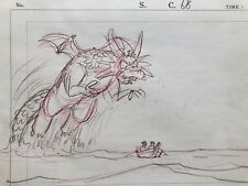 Sinbad Animation Production Cel Sketch  Dragon from the Sea