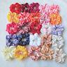 2PC Women Silk Scrunchies Ponytail Holder Elastic Solid Hair Bun Tie Accessories