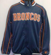 Denver Broncos Front Zip Track NFL Jacket Size Large Free Ship G-III