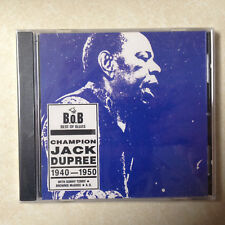 DUPREE, JACK - BEST OF BLUES 1940-1950 - BRAND NEW CD