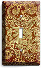 Damask Paisley Pattern Single Light Switch Wall Plate Cover Bedroom Living Room