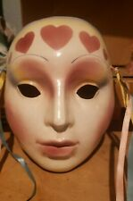 About Face Clay Art Ceramic Mask - Porcelain Lady Face Wall Decor