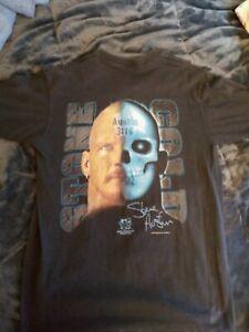 Vintage WWF Stone Cold Steve Austin Other Side Jackass T Shirt Size L. WWE