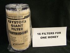"""(16) KEYSTONE GIANT G08P10010D Water Sediment 10 Micron Poly Filters 10"""" X 4.5"""""""