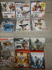 12 PS3 games Rapala, Call of Duty 4,  Battlefield Bad Company 2, Soldier of Fort