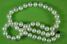 Real 8-9mm Acqua Dolce Coltivate Bianco perla collana