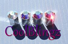 Crystal AB Rhinestone Bling Tire Valve Stem Caps made w/ Swarovski Elements
