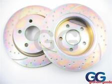 EBC Turbo Groove Rear Brake Discs for Ford Focus Mk2 2005 2.0 GD1307