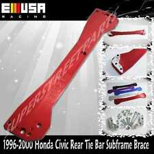 EMUSA  Rear Tie Bar Subframe Brace EK LX DX EX SI  RED for 1996-2000 Honda Civic