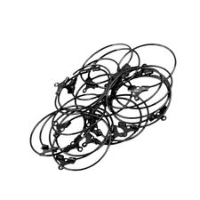 20pcs DIY Craft Hoop Loop Ear Wire Jewelry Making Earrings Findings Black
