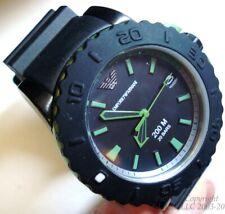 Nuova/Nuovo con etichette TIMER Benzel Aqua in alluminio 200M AR6102 EMPORIO ARMANI Dive Watch + BONUS