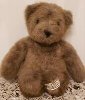 "Vintage 1985 CHARM CO  Brown Teddy Bear 14"" Plush Stuffed Animal Toy Korea"