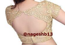 Readymade Saree Blouse, Designer Sari Blouse, Golden Net Blouse,Choli,Indian Top