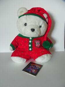 Santa Polar Bear Plush 1990 Dayton Hudson Christmas Dream Adventure Pajamas