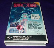 SABOTAGE VHS PAL MARK DACASCOS 1996 TIBOR TAKACS