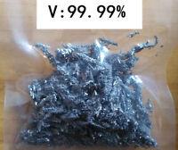 5 grams High Purity 99.99% Vanadium V Metal Lumps Vacuum packing