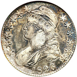 1826 50C XF45 ANACS - CAPPED BUST HALF DOLLAR