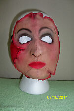 FEMALE SERIAL KILLER 16 SCARY CRAZY INSANE LATEX MASK COSTUME TB26056