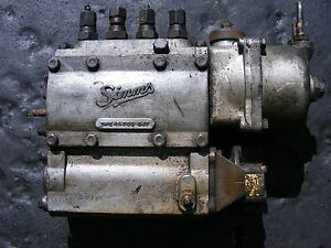 VINTAGE SIMMS 4 CYLINDER DIESEL FUEL INJECTION PUMP (MODEL SPE4A75S647)MAYBE 4D