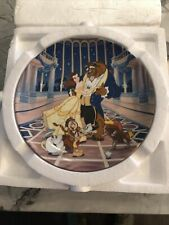 """New ListingKnowles Collector Plate - Disney's Beauty And The Beast """"Love's First Dance"""""""